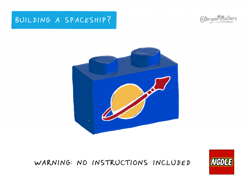 Building a Learning spaceship… by @bryanMMathers is licenced under CC-BY-ND
